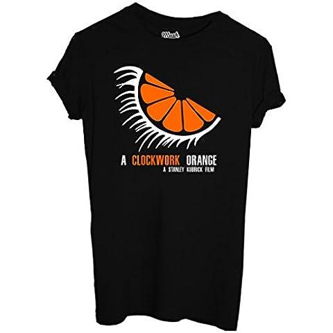 T-Shirt A CLOCKWORK ORANGE - ARANCIA MECCANICA - FILM by iMage Dress Your Style - Bambino-L-NERA