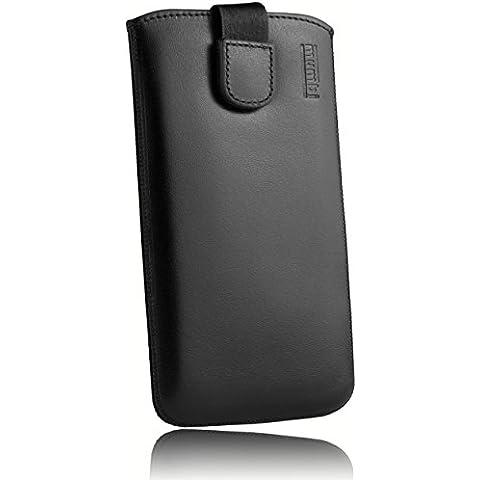 mumbi ECHT Ledertasche Samsung Galaxy J5 (2015) Tasche Leder Etui (Lasche mit Rückzugfunktion