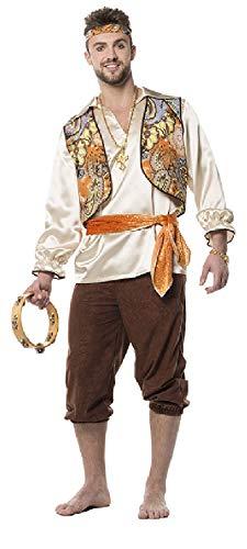 L3301420-60 orange-braun Herren Zigeuner Ungarisches Kostüm -