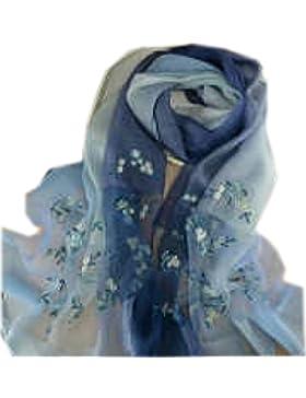 Efudfj Bufanda Colorido Gradiente Cuidado De La Piel Breathable Simple Hermoso Anti-UV Ir Fácil De Fade Lady Atmosphere...