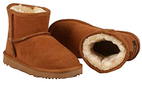 er Wildleder Flat Snow Boots (Farbe : Maroon, Größe : 39EU) ()