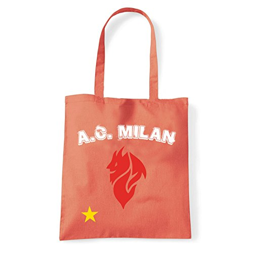 Art T-shirt, Borsa Shoulder Milan Evil, Shopper, Mare Corallo