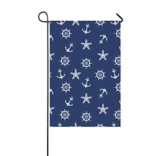 JOCHUAN Wohnkultur Blau Marine Garden Flaghouse Yard Flaggarden Yard Decorationsseasonal Willkommen Outdoor Flagge 12X18 Zoll (Willkommen Zu Hause Baby-jungen-banner)