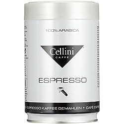 Cellini Premium Espresso, 100% Arabica, Siebträgermahlung, Dose mit Deckel, 1er Pack (1 x 250 g)