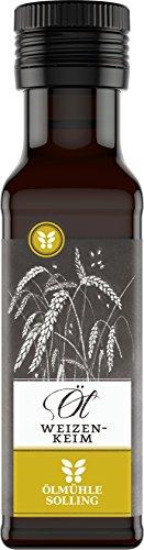 Ölmühle Solling Weizenkeimöl nativ, mechanisch kaltgepresst - 100ml Glasflasch (Weizenkeimöl Lebensmittel)