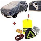 pour Renault KOLEOS KIT DE Voiture Couverture avec Doublure Zip Impermeable Taille L Gants, Cables DE Batterie, Corde DE REMORQUAGE, Veste FLUOUS