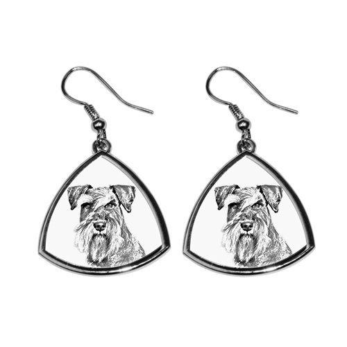 Schnauzer, Sammlung von Ohrringe mit Bildern von reinrassigen Hunden, einzigartiges Geschenk -