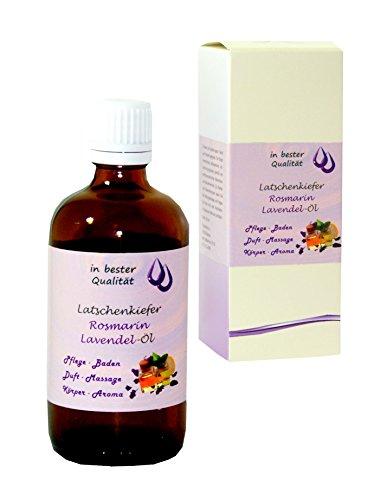 Latschenkiefer-Rosmarin-Lavendel-Öl - 100ml - für Massage, Einreibung - Badeöl, Duftöl, Saunaöl, Aroma-Öl -
