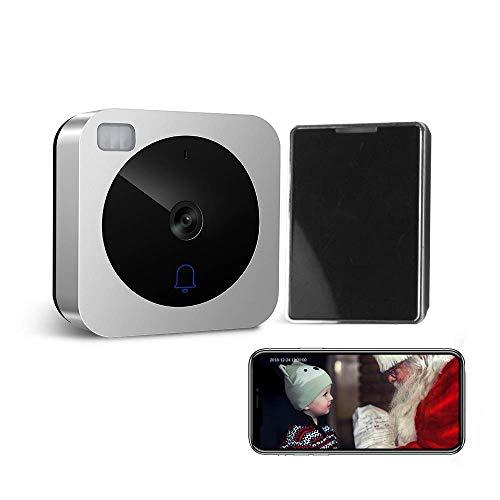 VueBell Smart citofono porta HD Campanello per videocitofono a porte chiuse WiFi con telecamera notte versione IR Motion Detection Alarm per IOS/Android