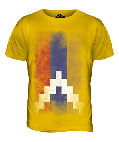 CandyMix Republik Bergkarabach Verblichen Flagge Herren T Shirt Dunkelgelb