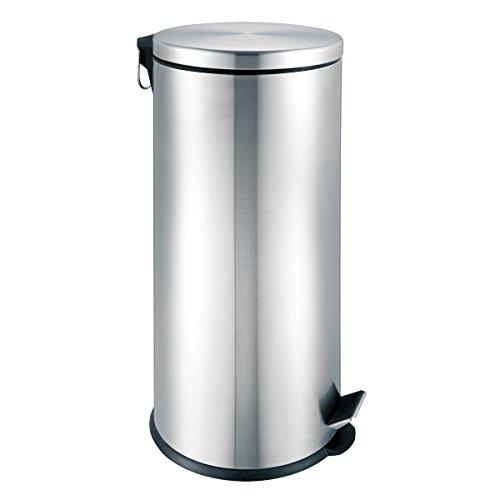 bremermann Treteimer 30 Liter mit Absenk-Automatik, Edelstahl matt -
