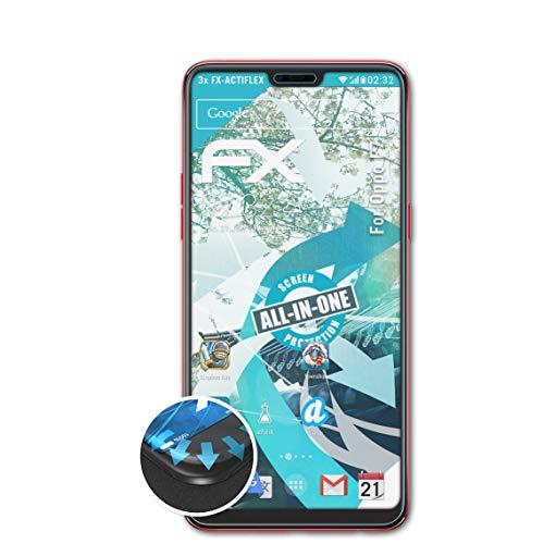 atFolix Schutzfolie passend für Oppo F7 Folie, ultraklare & Flexible FX Bildschirmschutzfolie (3X)