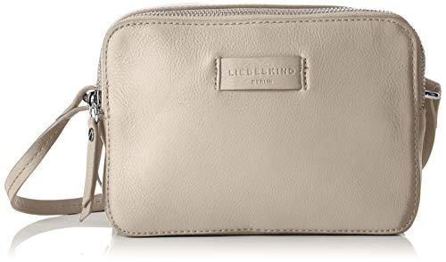 Liebeskind Berlin Damen Essential Camera Bag Small Umhängetasche, Grau (String Grey), 7x14x20 cm