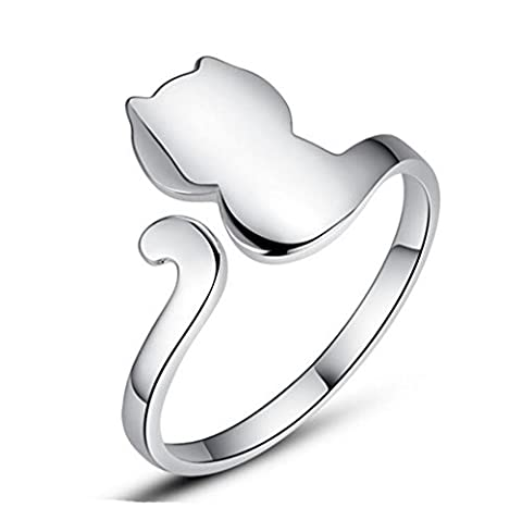 S&E Women's 925 Sterling Silver Small Cat