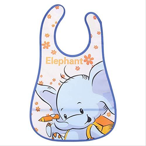 FHFF Schürze Baby Eva Waterproof Lunch Feeding Bibs Newborn Baby Cute Cartoon Feeding Cloth Towels ChildrenElephant -