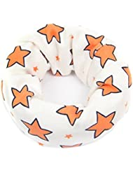 TININNA Bufanda de cuello de bebé Niños pañuelo de cuello bufanda caliente para el bebé Blanco + Naranja