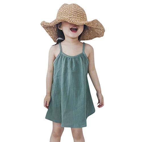 JUTOO Kleinkind-Säuglingsbaby-Mädchen scherzt losen Bügel-Sleeveless Feste Farben-Strand-Kleidungs-Kleidung ()