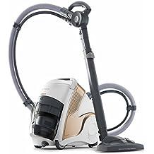 Polti Unico MCV85_Total Clean & Turbo - Aspirador multifunción 3 en 1 (aspiración y vapor, 6 bares, 0,8 litros, 236 AW), blanco y dorado
