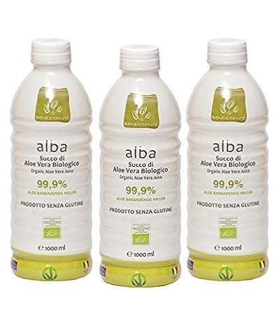 Offre 3litres de Alba jus de boisson d'Aloe Vera Bio au 99,9%