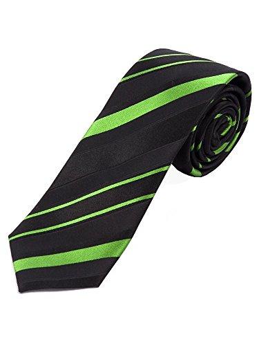 Elegant changierende schwarz-grüne Streifenkrawatte Breite ca. 7,5cm/148cm lang