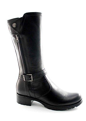 BLACK JARDINS 616463 bottes noires à double glissière latérale femme Nero