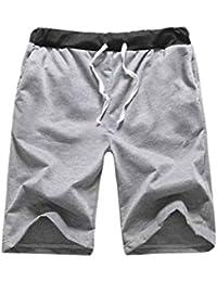 Babysbreath17 Hombres Pantalones cortos de playa soga cadena transpirable corto de cinco de los pantalones de enfriamiento… rXCWlae