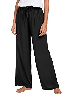 EEVASS Pantalones de Salón Flojos Ocasionales Flojos del Cordón de Las Mujeres