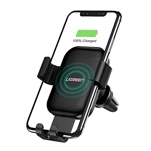 UGREEN Caricabatterie Wireless Auto Supporto Smartphone Gravità Ricarica Rapida 10W per Samsung Galaxy S10+ S10 S9 S8 7.5W per iPhone X XS MAX 8 8Plus 5W per Huawei Mate 20 Pro P30 Pro Xiami Mi9