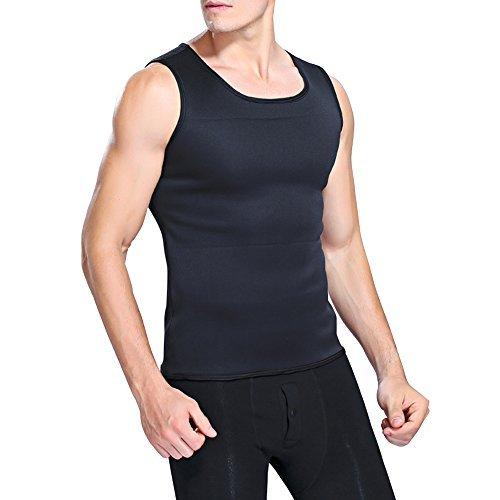 NOVECASA Weste Gewichtsverlust/Hosen Sauna Mann Neopren Sauna Kostüme Shorts Body Shaper Schwitzen Schwitzen, Fettverbrennung, Abnehmen Abdominal Belt (L, Kurzes Hemd)