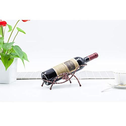 QCRLB Eisen-Weinregal aus Metall, freistehendes Verkaufsregal für Wein, kleines Ausstellungsdekorations-Weinregal Weinregal (Color : B)