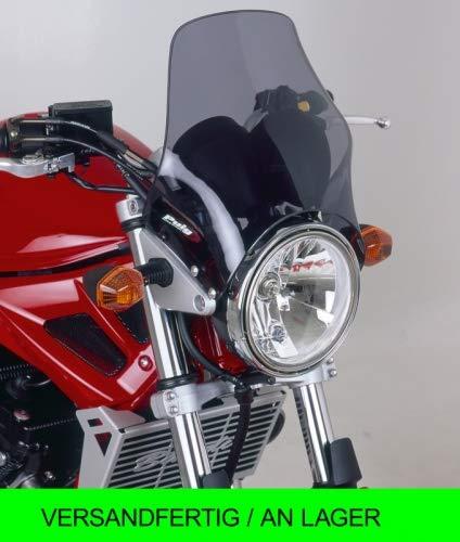 Générique Puig 4320H Pare-Brise Naked p.ex. Yamaha YBR125CUSTOM 08-13 p.ex. HondaCG125 Fum� Claire Set
