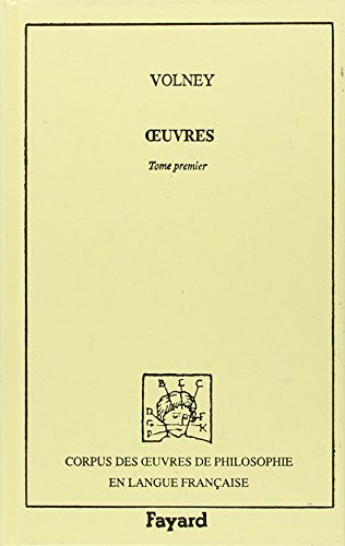 Oeuvres, tome 1 : 1788-1795