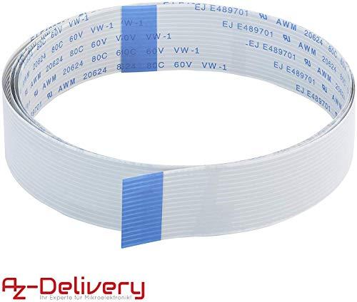 AZDelivery Ersatz Flexkabel 100 cm für Raspberry Pi Kamera/Display (100 cm)