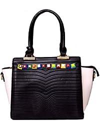 Shavis Women's Style Diva Black & White Shoulder Bag