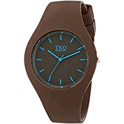 TKO Unisex Sports Rubber Band Fun Brown Ice Watch TK643BR