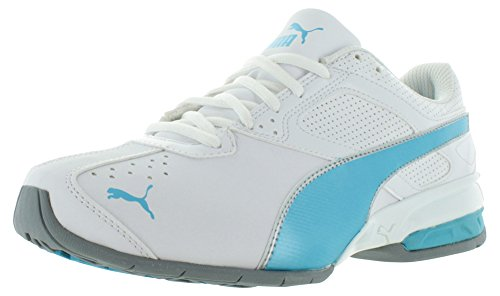 Puma Tazon 6 Synthetik Laufschuh White/Blue Atoll