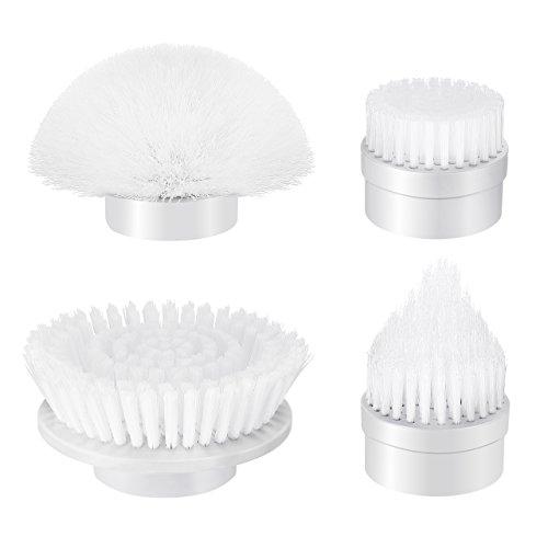 Homitt Ersatz Brush Köpfe, 4pcs Ersatzbürsten, Zubehör Bürsten geeignet für Spin Scrubber elektrisch, Reinigungsbürste für Boden, Wanne, Küche und Fliesen