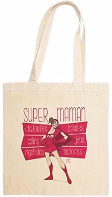 Super Maman : Sac en toile - Femme - Beige - RIGOLOBO