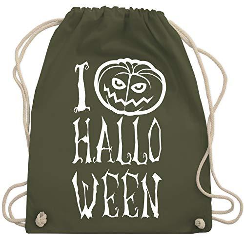 Halloween - I Love Halloween - Unisize - Olivgrün - WM110 - Turnbeutel & Gym Bag (Für 2019 Die Originelle Ideen Halloween-kostüme)