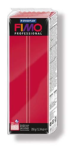 Staedtler 8001-29 - Pasta per modellare Fimo professional, 350 g, colore rosso (karmin)