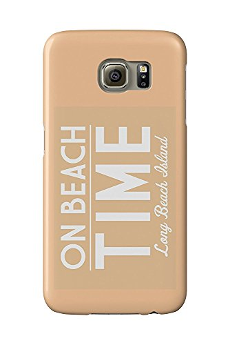 Long Beach Island, New Jersey - On Beach Time - Simply Said (Galaxy S6 Cell Phone Case, Slim Barely There) - Long Beach Island, New Jersey