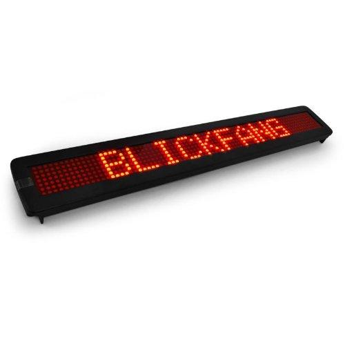 rote LED-Laufschrift Leuchtreklame 560 LED programmierbar Wandmontage (Leuchtreklame Für Bars)
