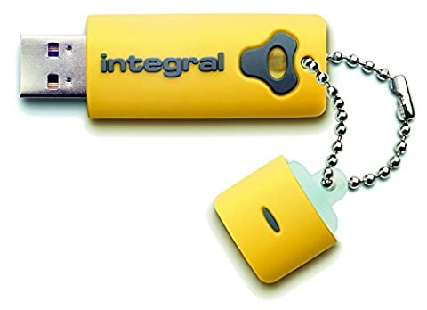 Integral INFD8GBSPLY Splash Black Clé USB 2.0 8 Go Jaune
