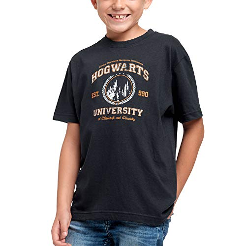 Elbenwald Magic University Kinder T-Shirt für Harry Potter Fans Baumwolle blau - 134/140