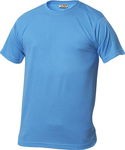 Polyester S/s Shirt (Herren Funktions T-Shirt aus Polyester von CLIQUE. Das T-Shirt für den Sport, perforiert und feuchtigkeitsabführend in 10 Farben S M L XL XXL XXXL XXXXL (Türkis, XXL))