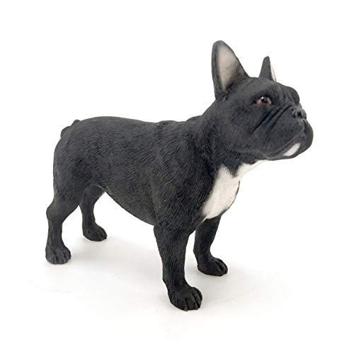 Leonardo Collection Bouledogue français Ornement Chien, Pierre, Noir