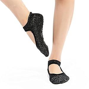 Maybesky Yoga Socken Seide Wolle Boden Herbst und Winter Dicke Anti-Rutsch-Socken Boden Socken Pilates, Anti-Rutsch-Slip-Socken