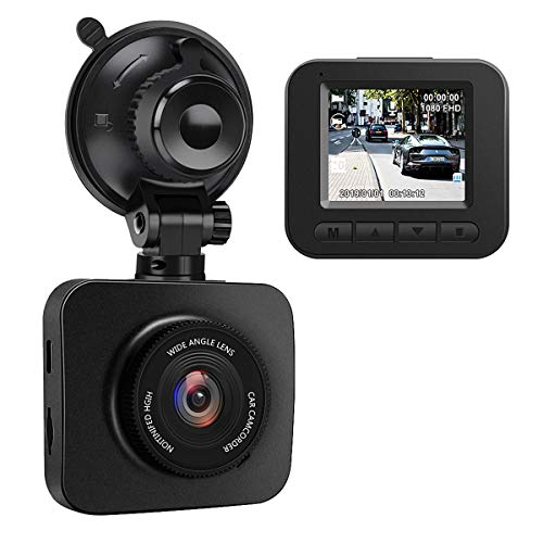 AWESAFE Cámara de Coche Dash CAM 1080P Full HD 170°Ángulo con WDR G-Sensor, Detección de Movimiento, Grabación en Bucle, Visión Nocturna, Monitor de Aparcamiento