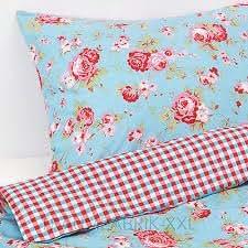 Ikea Rosali Blau Bettwasche 150x200 Cm 50x60 Cm Amazon De Kuche