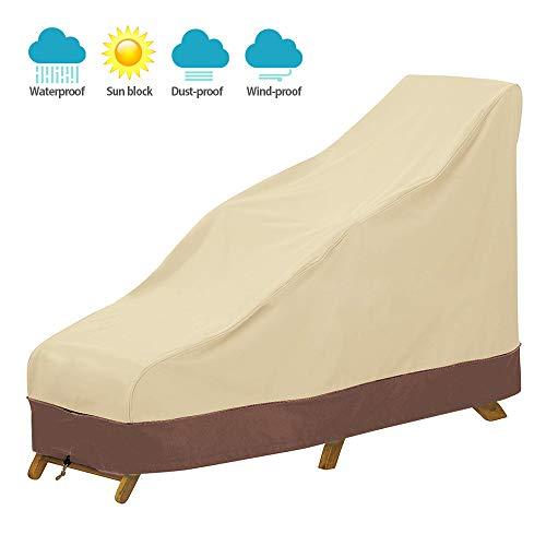 Dightyoho Schutzhülle gartenliege wasserdicht 198x84x40/90cm aus 210D Polyethylen Abdeckung für Gartenliege, Deckchair, Liegestuhl, Sonnenliege (1 Pcs)